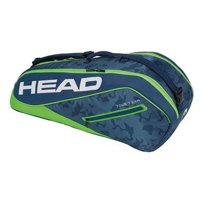 Head Tour Team Combi 6 Racket Bag AW17 - Navy/Green