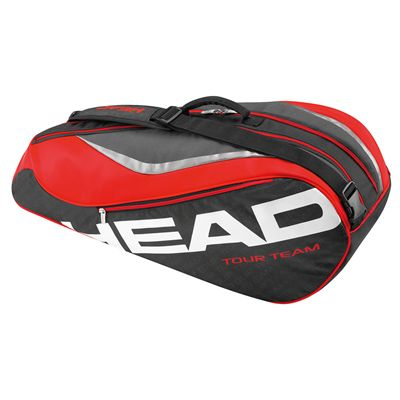 Head Tour Team Combi 6 Racket Bag-Black and Red