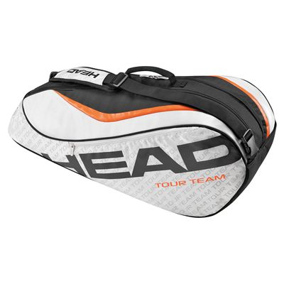 Head Tour Team Combi 6 Racket Bag-Silver and Black