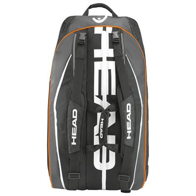 Head Tour Team Monstercombi 12 Racket Bag-Black-Back View