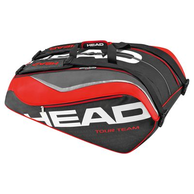 Head Tour Team Monstercombi 12 Racket Bag Black and Red
