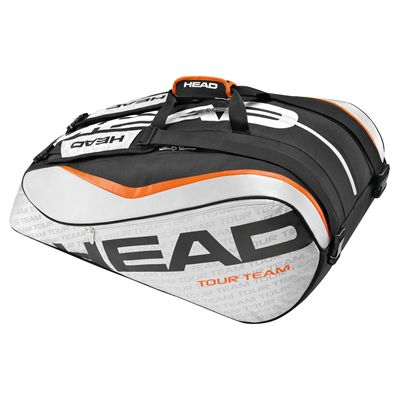 Head Tour Team Monstercombi 12 Racket Bag Silver and Black