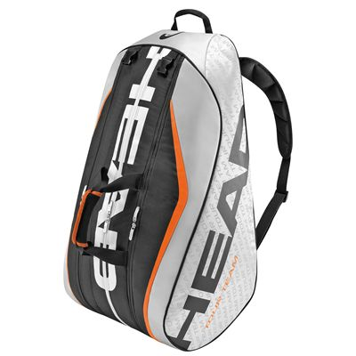 Head Tour Team Monstercombi 12 Racket Bag Silver and Black Side View