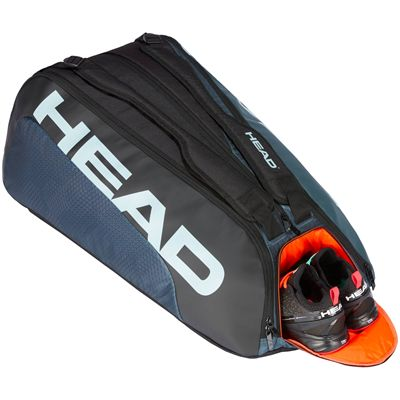 Head Tour Team Monstercombi 12 Racket Bag SS20 - Grey - Angled