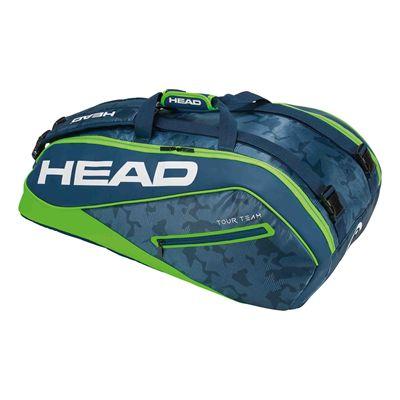 Head Tour Team Supercombi 9 Racket Bag AW17 - Navy/Green