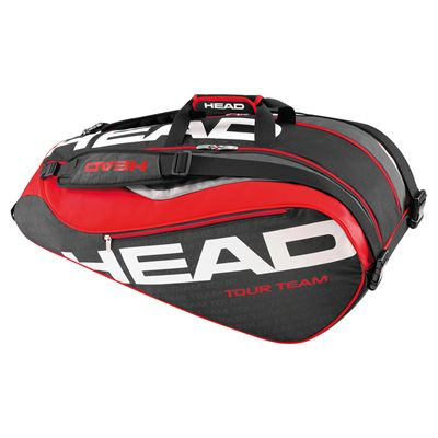Head Tour Team Supercombi 9 Racket Bag-Black and Red
