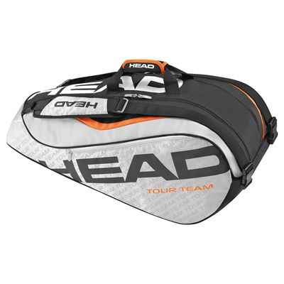Head Tour Team Supercombi 9 Racket Bag-Silver and Black
