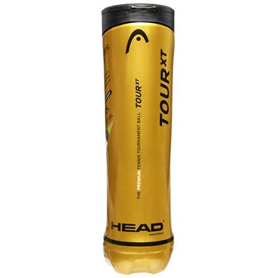 Head Tour XT Tennis Balls - 12 Dozen - Side