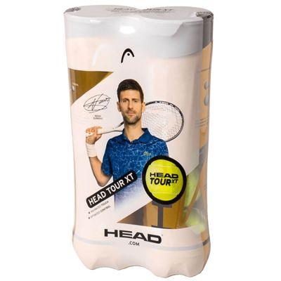 Head Tour XT Tennis Balls - 4 Ball Tube Bi-Pack