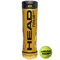 Head Tour XT Tennis Balls - Tube of 4