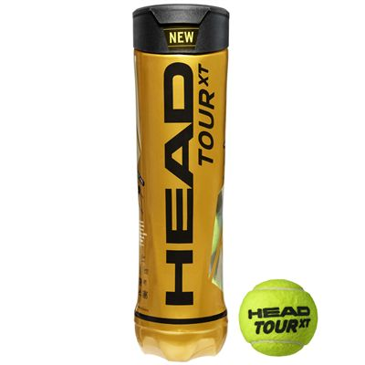 Head Tour XT Tennis Balls - Tube of 4