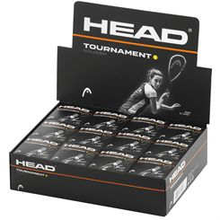 Head Tournament Squash Balls - 1 Dozen