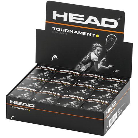 Head Tournament Squash Balls - 1 Dozen