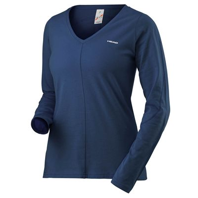 Head Transition Ladies Long Sleeve Top - Navy