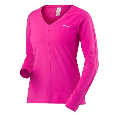 Head Transition Ladies Long Sleeve Top - Pink