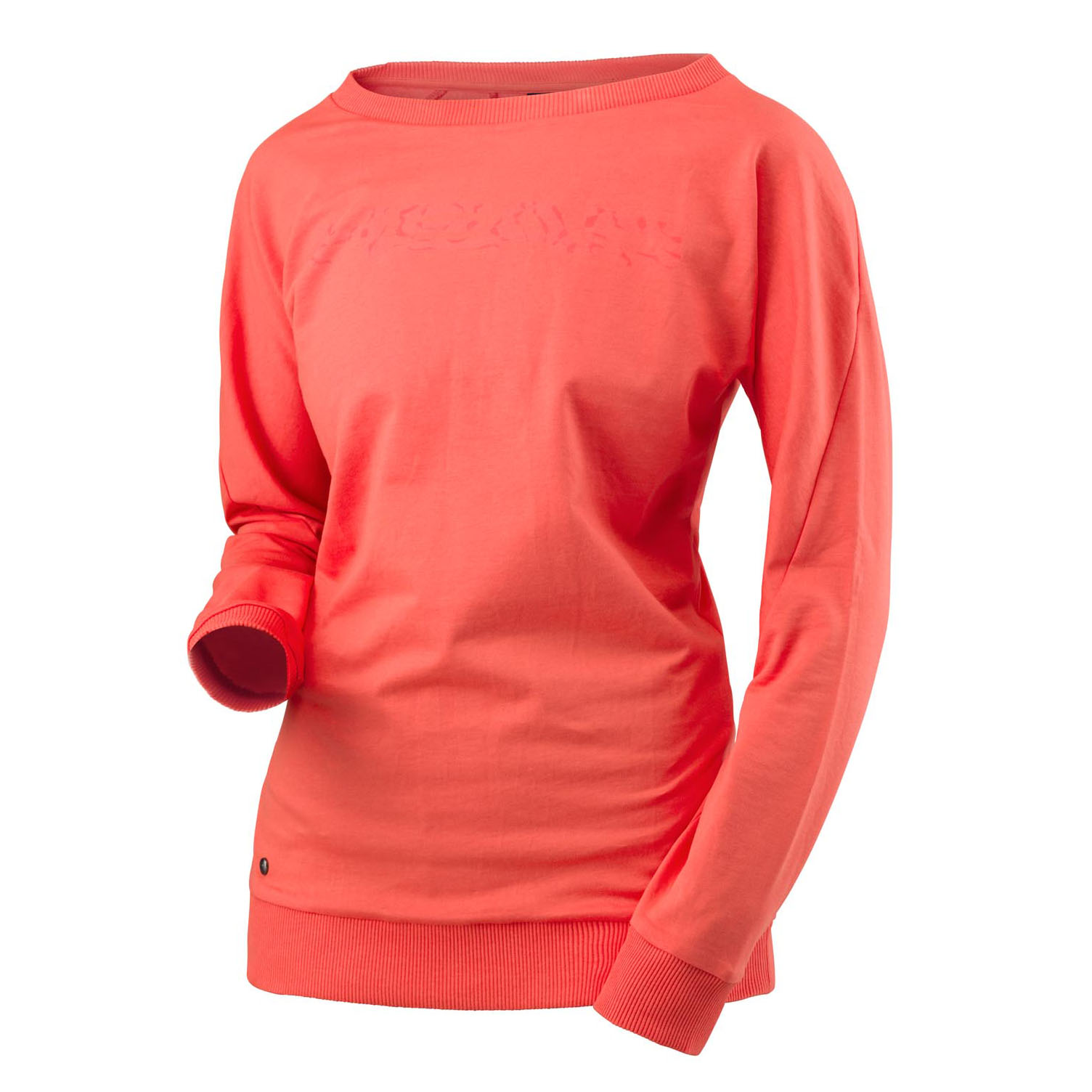 Head Transition Sweat Ladies Long Sleeve Top - Coral, S