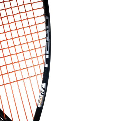 Head YouTek Anion 135 Pro Squash Racket close up strings