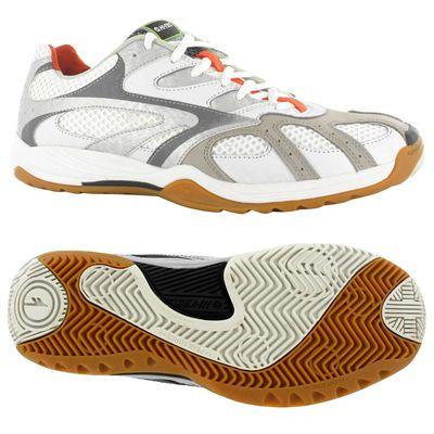 Hi-Tec Ad Pro Elite Mens Court Shoes-White and Orange