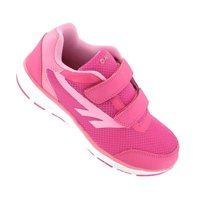 Hi-Tec Pajo EZ Girls Velcro Running Shoes - Angle View