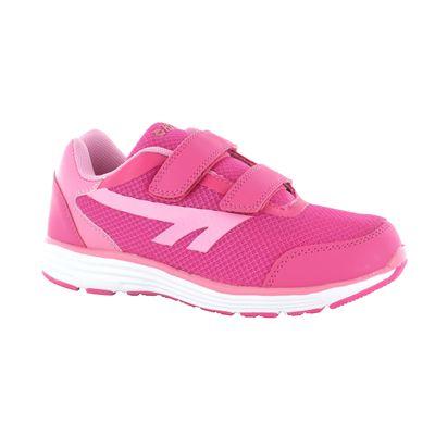 Hi-Tec Pajo EZ Girls Velcro Running Shoes - Side View