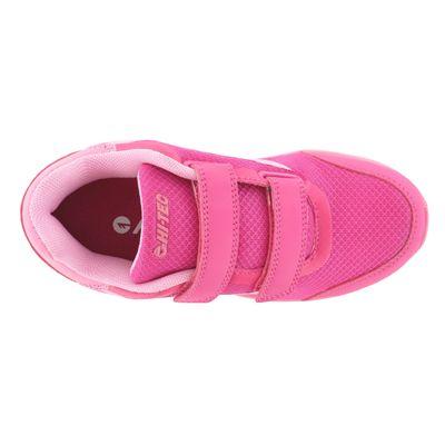 Hi-Tec Pajo EZ Girls Velcro Running Shoes - Top View