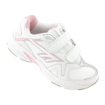 Hi-Tec R157 EZ Leather Girls Running Shoes - Angle View