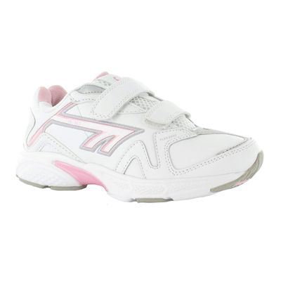 Hi-Tec R157 EZ Leather Girls Running Shoes - Side View