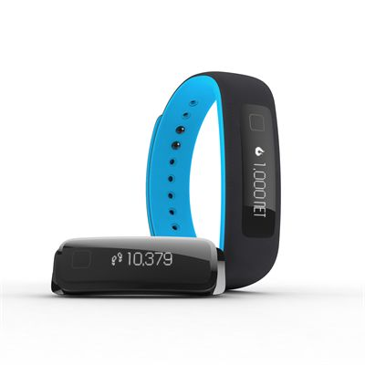 iFit Vue Fitness Tracker-Black-Blue