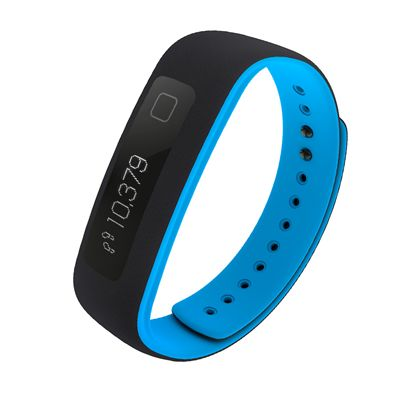 iFit Vue Fitness Tracker-Black-Blue Image