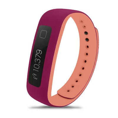 iFit Vue Fitness Tracker-Purple-Orange Image