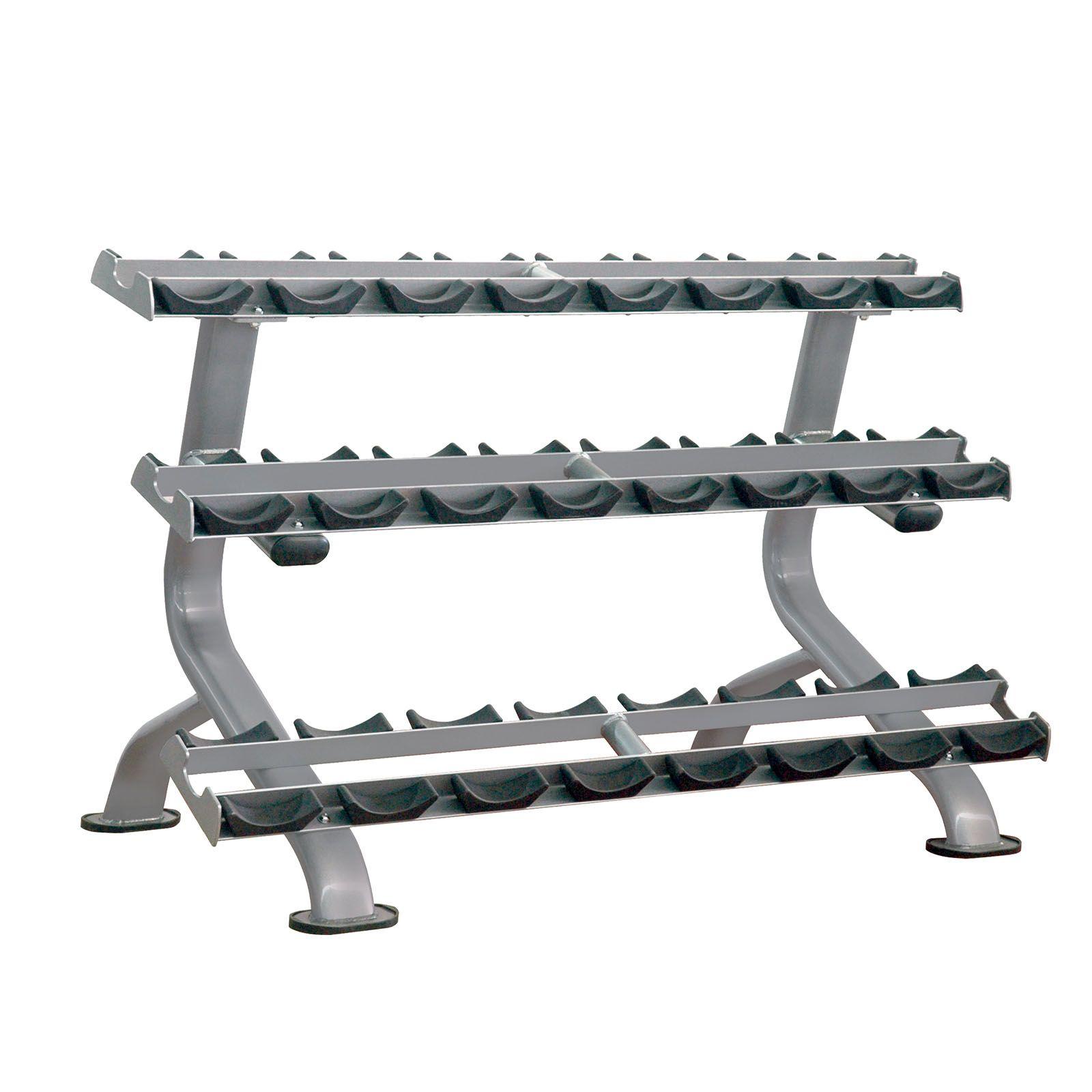 impulse elite 3 tier dumbbell rack  12 pair