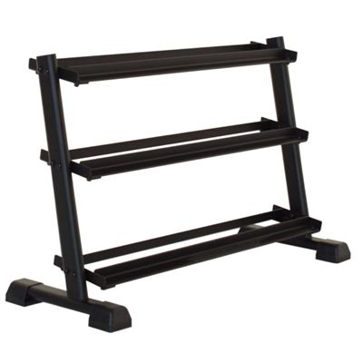 Inspire Fitness 3 Tier Dumbell Rack - Angled