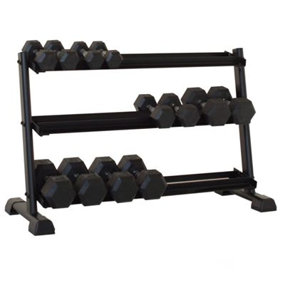 Inspire Fitness 3 Tier Dumbell Rack - In Use1
