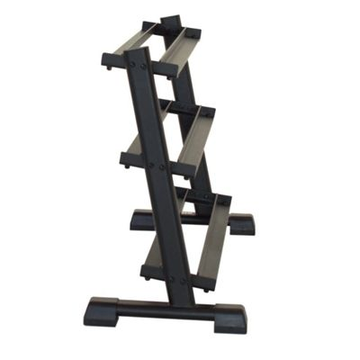 Inspire Fitness 3 Tier Dumbell Rack - Side