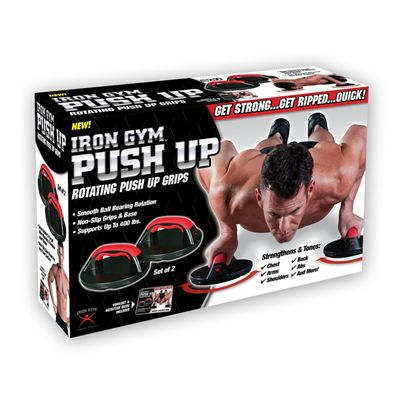 Iron Gym Push Up Max Rotating Push Up Bars - Box