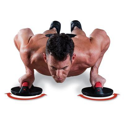 Iron Gym Push Up Max Rotating Push Up Bars - In Use