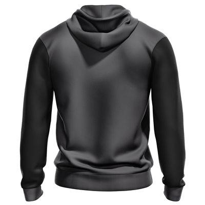 Jartazi Bari Mens Knitted Hooded Zip Jacket - Back
