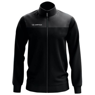 Jartazi Bari Mens Knitted Poly Training Jacket - Black