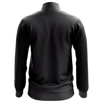 Jartazi Bari Mens Knitted Poly Training Jacket - Black Back