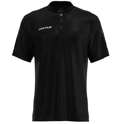 Jartazi Roma Mens Button Polo Shirt - Black