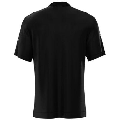 Jartazi Roma Mens Button Polo Shirt - Black Back