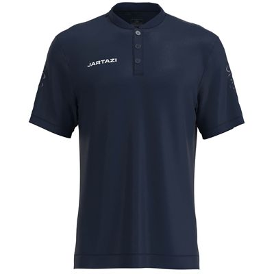 Jartazi Roma Mens Button Polo Shirt - Navy