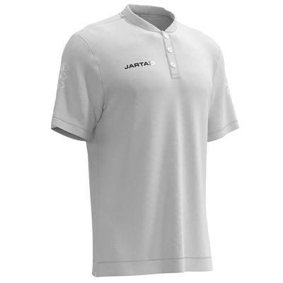 Jartazi Roma Mens Button Polo Shirt - White - Slant
