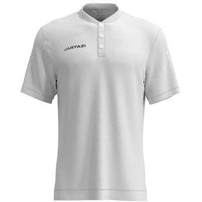 Jartazi Roma Mens Button Polo Shirt - White