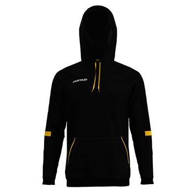 Jartazi Roma Mens Hooded Sweater - Black Angle - Back Hood