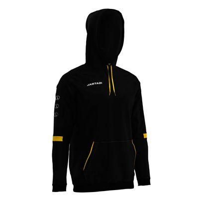 Jartazi Roma Mens Hooded Sweater - Black Angle - Back Hood Angle