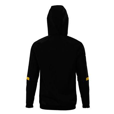Jartazi Roma Mens Hooded Sweater - Black Angle - Back Hood Back