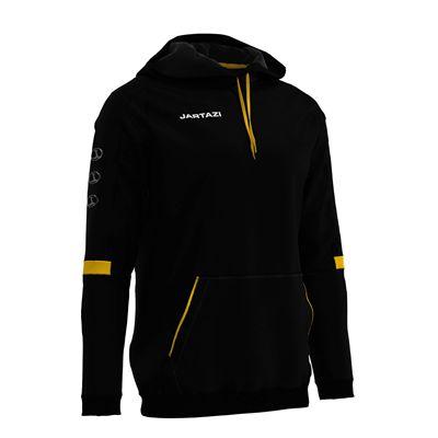 Jartazi Roma Mens Hooded Sweater - Black Angle