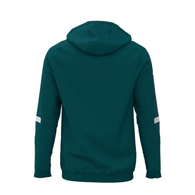 Jartazi Roma Mens Hooded Sweater - Petrol Back