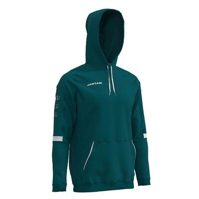 Jartazi Roma Mens Hooded Sweater - Petrol Hood Angle